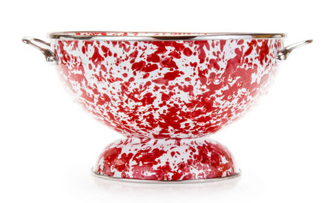 Red Swirl Large Colander