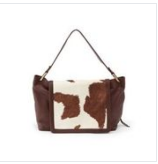 Ventura Shoulder Bag, Cow Print