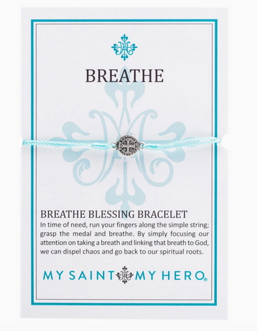 Breathe Blessing Bracelet, Mint/Silver