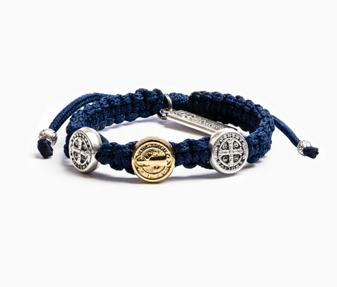 Blessing for Kids Benedictine Blessing Bracelet, Navy