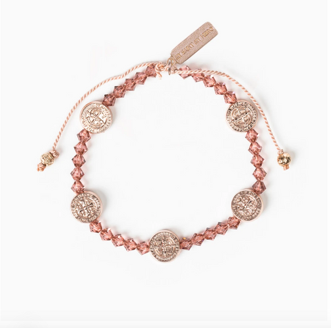 Share the Love Crystal Bracelet, Rose Gold