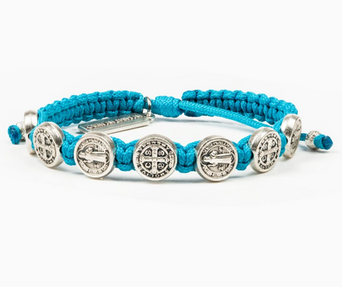 Benedictine Blessing Bracelet, Turquoise/Silver