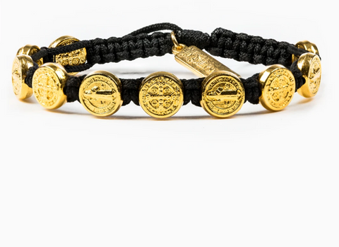 Benedictine Blessing Bracelet, Black/Gold