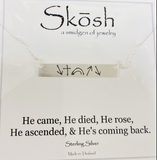 Engraved Bar Skosh Necklaces