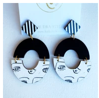 Amanda- Abstract Face Earrings