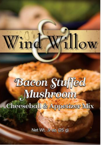 Bacon Stuffed Mushroom Cheeseball & Appetizer Mix