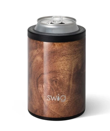 Black Walnut Combo Can & Bottle Cooler