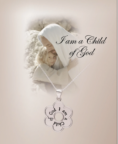 I am a Child of God Necklace with Daisy