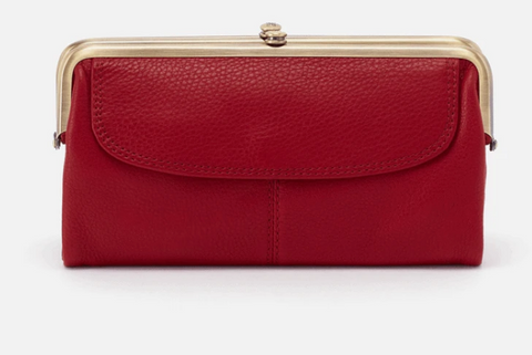 Lauren Clutch Wallet, Scarlet
