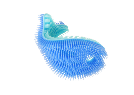 Blue Fish Silicone Bath Scrub