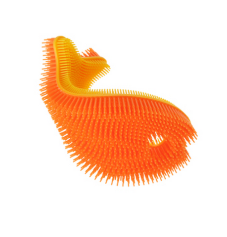 Orange Fish Silicone Bath Scrub