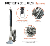 Bristle Free Stainless Steel Grill Brush