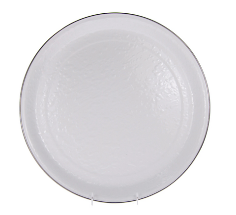 Solid White Medium Tray