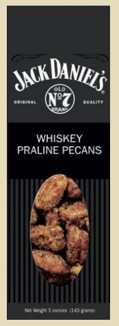 Jack Daniel's Whiskey Praline Pecans, 5 oz. Box