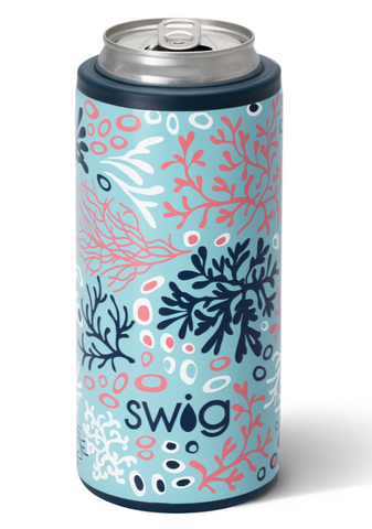Coral Me Crazy Skinny Can Cooler