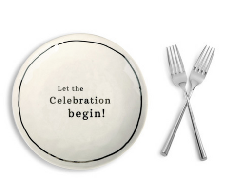 Celebrate Sharing Plates and Forks Set