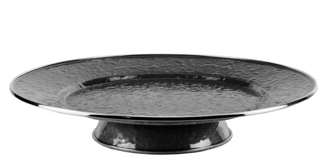 Solid Black Cake Plate