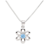 Sterling Silver Birthstone Daisy Flower Necklace