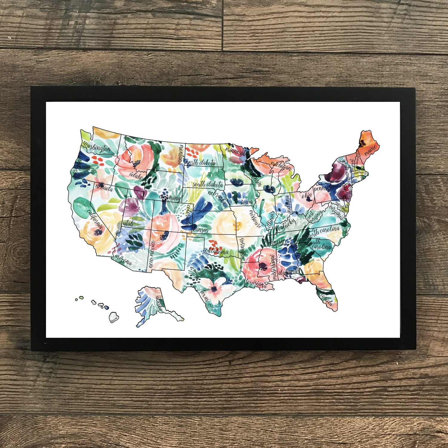 Rose Less Traveled Gold US Scratch Off Map Waypoint Wanders - Map of where i traveled