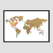 Load image into Gallery viewer, Globe Trotter - Gold World Map