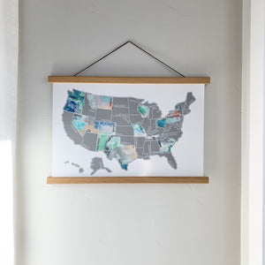 Dreamer - Silver US Scratch Off Map
