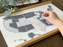 Load image into Gallery viewer, Grey Topo - US Scratch Off Map