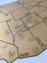 Load image into Gallery viewer, National Parks Map - Gold US Scratch Off