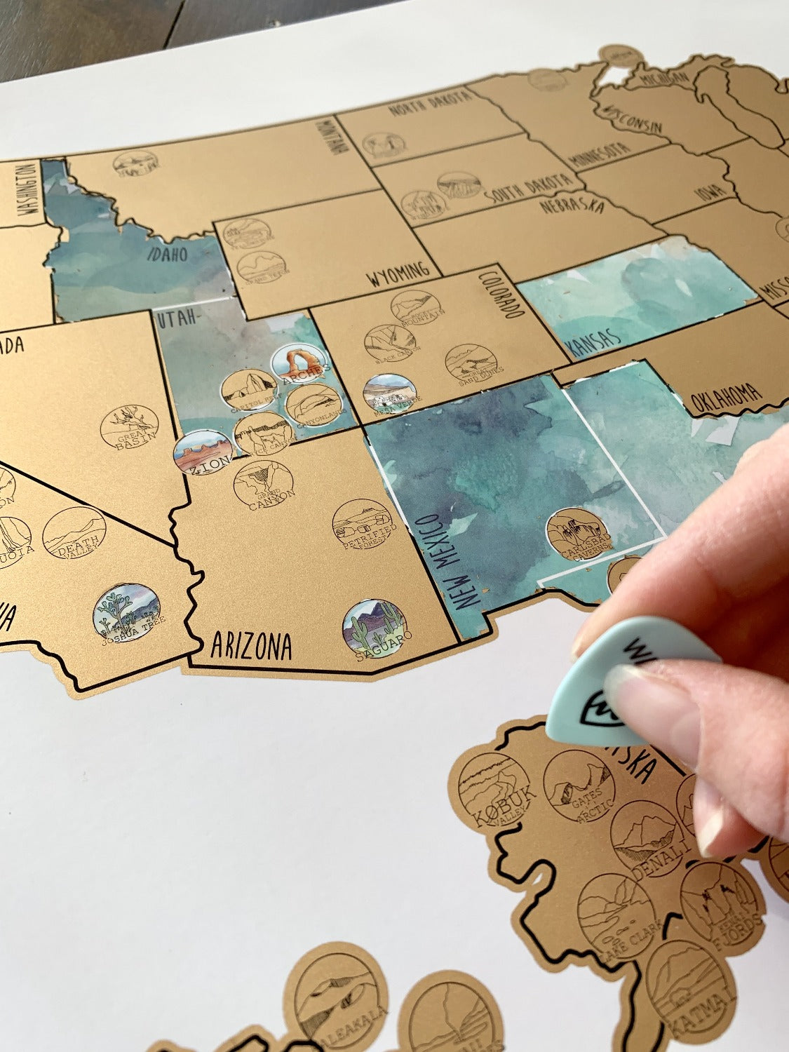 National Parks Map - Gold US Scratch Off – Waypoint Wanders