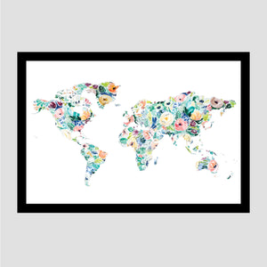 Silver Rose Less Traveled World Scratch Off Map