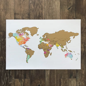 Globe Trotter - Gold World Map