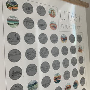 Utah State Bucket List Scratch Off