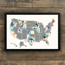 Load image into Gallery viewer, Rose Less Traveled - Silver US Scratch Off Map