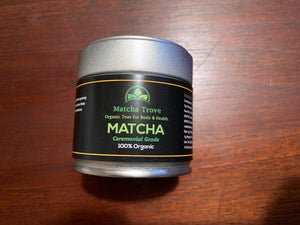 100% Organic Ceremonial Matcha 30g tin (1.06 oz.) approx. 30 servings $24.99 FREE U.S. Shipping