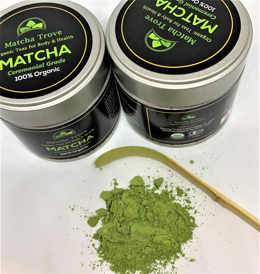 2 Tins 100% Organic Ceremonial Grade Matcha only $45.00 FREE U.S. Shipping