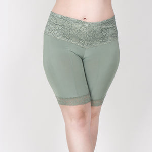 Lace Shortlette Anti Chafing Slipshort (Sage) - Limited Edition