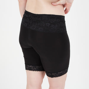 Lace Shortlette Anti Chafing Slipshort (Black)-BEST SELLER!