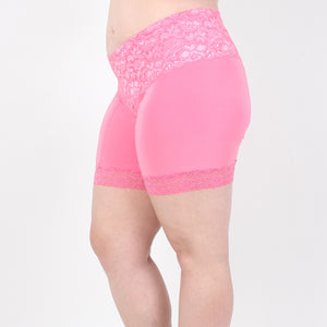 HT Lace Shortlette Anti Chafing Slipshort - Short Length (Pink)
