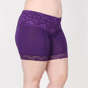 HT Lace Shortlette Anti Chafing Slipshort - Short Length (Purple)