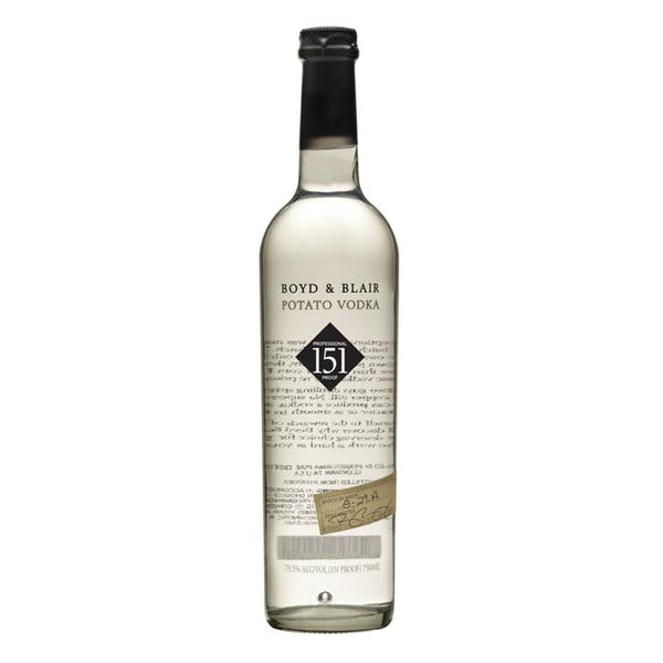 Boyd & Blair Professional Proof 151 Potato Vodka