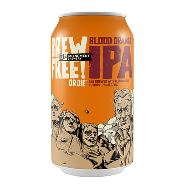 21st Amendment Blood Orange Brew Free! or Die IPA