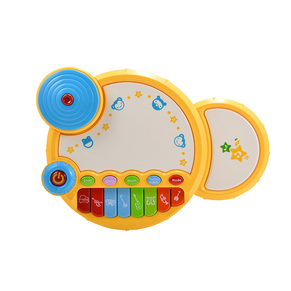 Baby Learning Musical Drum Toy with Light for Baby Early Development