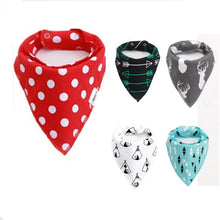 Load image into Gallery viewer, Baby Feeding Saliva Towel Baby Bibs Cotton Triangle Towel