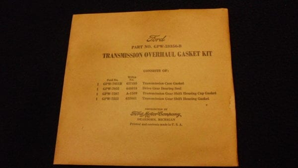 Gaskets Transmission Kit T84 NOS