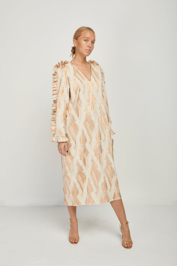 Filippa Dress Gold