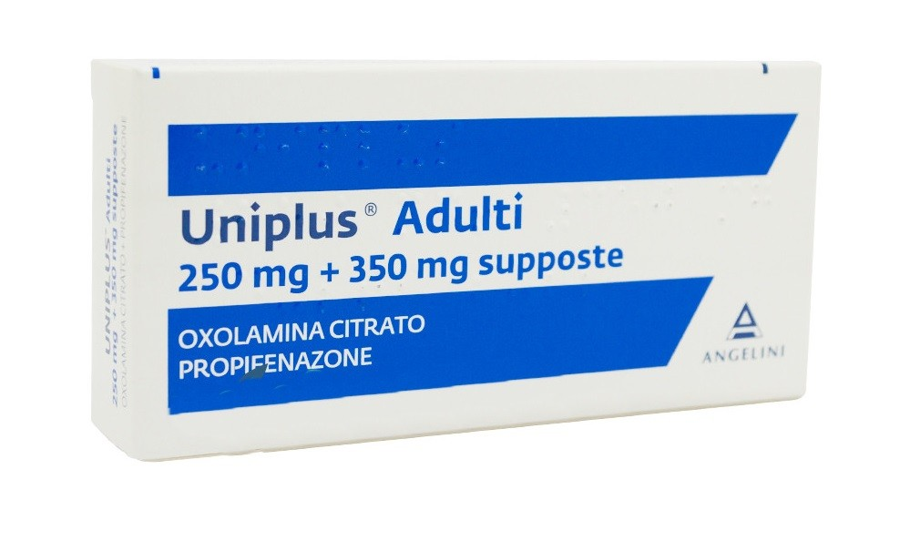 UNIPLUS ADULTI 10 SUPPOSTE 250MG+350MG