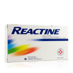 REACTINE 6 COMPRESSE 5 MG + 120 MG RILASCIO PROLUNGATO