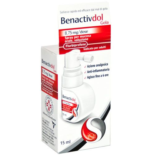 BENACTIVDOL GOLA SPRAY 15ML 8.75MG - azfarma