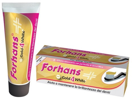 FORHANS GOLD 4 WHITE DENTIFRICIO 75 ML - azfarma