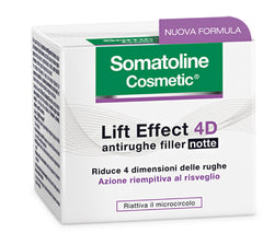 SOMATOLINE VISO LIFT EFFECT 4D CREMA ANTIRUGHE NOTTE FILLER 50 ML