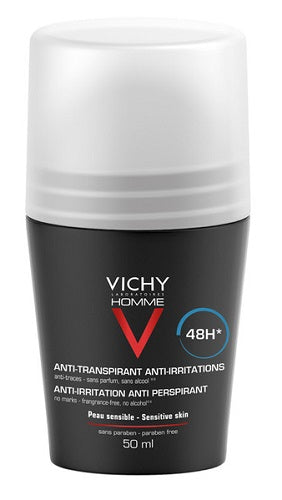 VICHY HOMME DEODORANTE ROLL-ON PS 50 ML - azfarma